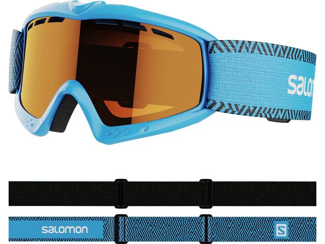 Salomon Kiwi Access Goggles Kinder blue/tonic orange